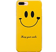 For  IMD Case Back Cover Case Yellow Smile Face Tile Soft TPU for  iPhone 7 Plus iPhone 7 iPhone 6s Plus 6 Plus iPhone 6s 6