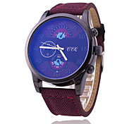 Men's Sport Watch Fashion Watch Quartz Fabric Band Cool Casual Black Blue Brown