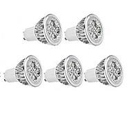 5W GU10 / E26/E27 Spot LED MR16 1 350-400 lm Blanc Chaud / Blanc Froid AC 85-265 V 5 pièces