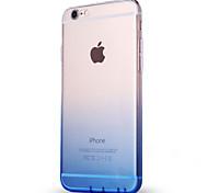 Para Ultra-Fina Translúcido Capinha Capa Traseira Capinha Cores Gradiente Macia TPU para AppleiPhone 7 Plus iPhone 7 iPhone 6s Plus/6