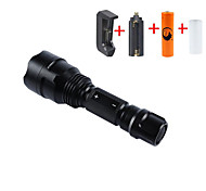 UKing ZQ-X1000#-EU Cree XM-L T6 2000LM 5Modes Falshlight Torch Kit with 1*18650 Battery and Charger