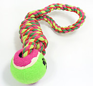 Cat Toy Dog Toy Pet Toys Ball Chew Toy Interactive Teeth Cleaning ToyRope Durable Elastic Dog Footprint Tennis Ball Nobbly Wobbly Woven