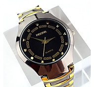 Dress Watch Quartz Alloy Band Black Silver Gold