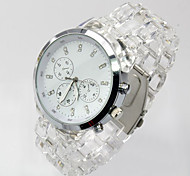 Fashion Watch Quartz Alloy Band Casual White White