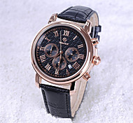 Men's Dress Watch Fashion Watch Calendar Quartz Stainless Steel Band Charm Cool Casual Black Brown
