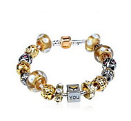 Chain Bracelet Crystal Crystal Simulated Diamond Natural Jewelry Gold Jewelry 1pc