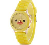 Women's Fashion Watch Quartz Alloy Band Cartoon Candy color Yellow