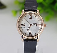 Fashion Watch Quartz Leather Band Casual Blue Brown Pink