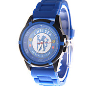 Fashion Watch Quartz PU Band Blue