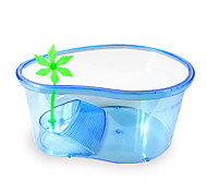 Mini Aquariums Turtle Stand Non-toxic & Tasteless Plastic Blue 32x22.5x12cm