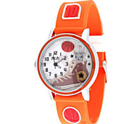 Herren Damen Modeuhr Quartz / Leder Band Bequem Orange Orange