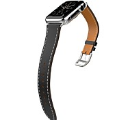 banda para la serie reloj de manzana 1 2 series de lujo correa de cuero genuino única sustitución gira de la banda reloj inteligente