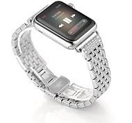 liga de cristal strass Diamante Relógio faixas de relógio de aço inoxidável pulseira pulseira de luxo banda para a série relógio maçã 2