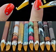 1PCS Autocollant d'art de clou Guide Conseils français Maquillage cosmétique Nail Art Design