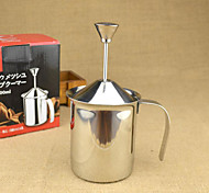 400 inoxidável batedor de leite de aço, fabricante latte art manual do reutilizável