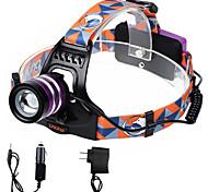 U'king ZQ-G70000BPurple CREE T6 LED 2000LM 3Mode Adjustable Focus Headlamp Bike Light for Camping/Hiking/Caving Everyday Use Cycling