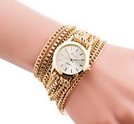 Fashion Watch Quartz Alloy Band Charm Casual Black Silver Gold