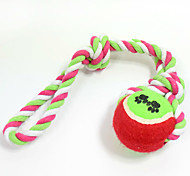 Cat Toy Dog Toy Pet Toys Ball Chew Toy Interactive Teeth Cleaning Toy Rope Durable Elastic Tennis Ball Woven Halloween Dog Footprint
