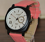 Fashion Watch Quartz Silicone Band White Blue Red