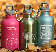 Frosted Drinkware, 350 ml Portable Leak-proof Stainless Steel Juice Milk Water Bottle