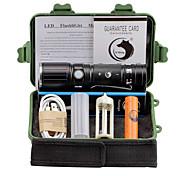 Eclairage Lampes Torches LED Kits de Lampe de Poche LED 2000 Lumens 3 Mode Cree XM-L T6 18650 AAA 26650 Faisceau Ajustable Clip