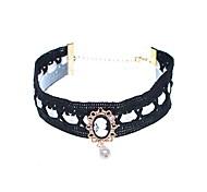 Женский Ожерелья-бархатки Искусственный жемчуг Свисающие Бижутерия Жемчуг Искусственный жемчуг Стекло ТканьКисточки Искусственный жемчуг
