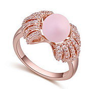 Ring Zircon Cubic Zirconia Alloy Natural Yellow Bronze Light Blue Light Pink Light Green Jewelry Daily 1pc