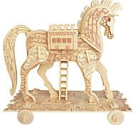 Пазлы Деревянные пазлы Строительные блоки Игрушки своими руками Сфера Лошадь 1 Дерево Со стразами Модели и конструкторы