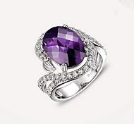 Ring Crystal Gem Fashion Luxury Jewelry Purple Jewelry Daily Casual 1pc