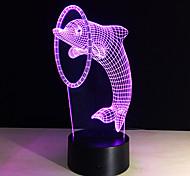 7colors 3d иллюзия свет водить дельфина лампы настольные продукты новизны Рождество Свадьба декора огни детям подарки