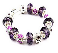 Bracelet Chain Bracelet Crystal Others Natural Birthday Gift Jewelry Gift Black White Yellow Red Purple Gray Pink,1pc
