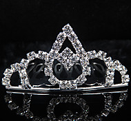 splendido matrimonio strass sposa tiara / copricapo