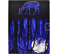 Para Com Suporte Estampada Capinha Corpo Inteiro Capinha Animal Rígida Couro PU para Apple iPad 4/3/2
