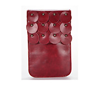 For Wallet Case Pouch Bag Case Solid Color Soft PU Leather for Universal