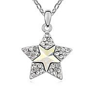 Жен. Ожерелья с подвесками Кристалл В форме звезды Базовый дизайн Темно-синий Желтый Цвет радуги Бижутерия Для 1шт