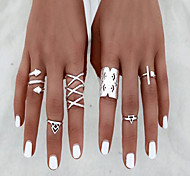MPL Europe and the United States fashion new 8 sets of hollow joint ring