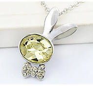 Women's Pendant Necklaces Crystal Chrome Circular Unique Design Fashion Euramerican Light Blue Light Green Dark Green Jewelry ForWedding