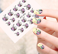 5pcs/set Sweet Flower Vine Nail Art Sticker Beautiful Flower Vine Design Nail Water Transfer Decals Nail Beauty Sticker STZ-022