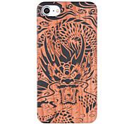 Para En Relieve Diseños Funda Cubierta Trasera Funda Animal Dura Madera para Apple iPhone 7 Plus iPhone 7