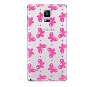 Para Transparente Diseños Funda Cubierta Trasera Funda Mariposa Suave TPU para Samsung Note 5 Note 4 Note 3 Note 2