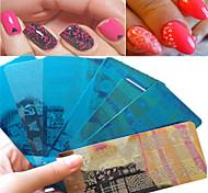 1шт сладкий красивый дизайн кружева штамповки пластины ногтя нержавеющей стали штамповки пластины красочный дизайн маникюра красота