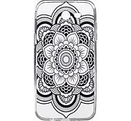 For Samsung Galaxy J7 J5 (2017) Case Cover Datura Flower Pattern High Penetration TPU Material Phone Case J3(2017) J7 J5 J3 (2016)J7 J5 J3