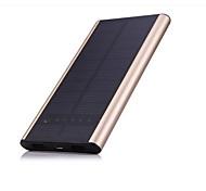 SUNWALK 6000mAh Dual USB Thin&Aluminium Shell Solar Charger Power Bank External Battery for Cell Phone