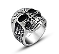 xpendable Skull Rings for Biker Men Cool Vintage Pattern Silver Punk Jewelry Soldiers Lansquene Mercenary Accessories Amulet