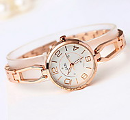 Women's Skeleton Watch Fashion Watch Water Resistant / Water Proof Hollow Engraving Japanese Quartz Alloy Band Cool CasualSilver Rose
