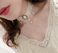 Traditional Lolita White Lace Necklace Lolita Accessories