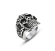 Sale Rushed Cute Fine Jewelry Anillos Retro Auspicious Clouds Pattern Skull Ring Finger Jewelry Sa741 Fantasy Personality