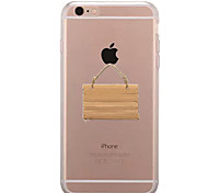 Per Transparente Fantasia/disegno Custodia Custodia posteriore Custodia Con logo Apple Morbido TPU per AppleiPhone 7 Plus iPhone 7 iPhone