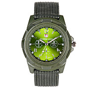 Masculino Relógio de Moda Quartzo Tecido Banda Casual Preta Verde Branco Verde