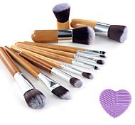 1Pcs Cleaning Tools And 11Pcs Beauty Makeup Brushes  Set Kit Premium Synthetic Kabuki Cosmetic Blending Blush Eyeshadow Concealer